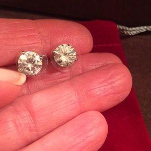 CZ Silver earrings